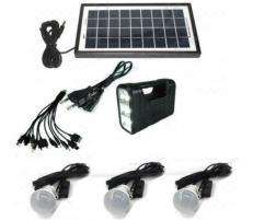 OEM Sistem Iluminare LED cu Incarcare Solara, 3 Becuri LED si Lampa Portabila KILLO