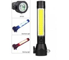 Lanterna LED YC1018C reincarcabila cu ciocan pentru geamuri auto si taietor pentru centura