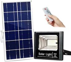 OEM Proiector LED exterior 25W alb rece cu panou solar JD-8825