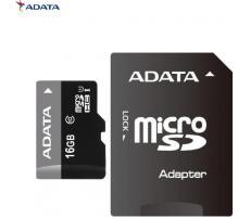 OEM Card de memorie Adata microSDHC AUSDH16GUICL10-RA1, 16GB, Clasa 10 + adaptor SD