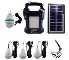 OEM Sistem Iluminare LED cu Incarcare Solara, 3 Becuri LED, 1 bec disco si Lampa Portabila cu FM si MP3 player GD-8050