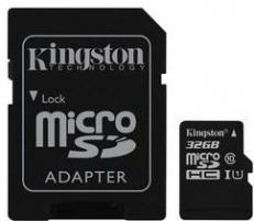Kingston Card de Memorie Kingston Canvas Select microSDHC 32GB + Adaptor SD