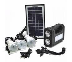 OEM Sistem Iluminare LED cu Incarcare Solara, 3 Becuri LED si Lampa Portabila GD-8017