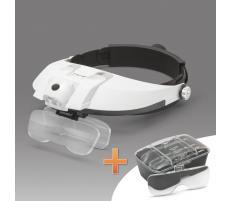 Handy Lupa de cap cu iluminare LED, cu lentila dubla