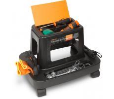 Handy Scaun de lucru pe rotile cu compartimente pt. scule