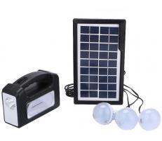 OEM Sistem Iluminare LED cu Incarcare Solara, 3 Becuri LED si Lampa Portabila GD-7
