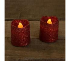 Family Pound Lumânare LED - Roşu
