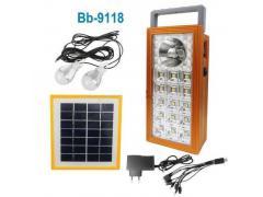 OEM Sistem Iluminare LED cu Incarcare Solara, 2 Becuri LED si Lampa Portabila BB-9118