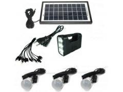 Sistem Iluminare LED cu Incarcare Solara, 3 Becuri LED si Lampa Portabila KILLO