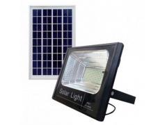 Proiector LED exterior 10W alb rece cu panou solar JD-8810