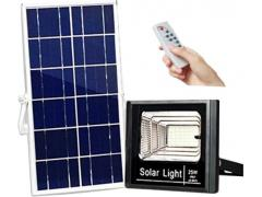 Proiector LED exterior 25W alb rece cu panou solar JD-8825