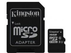 Kingston Card de Memorie Kingston Canvas Select microSDXC 16GB + Adaptor SD