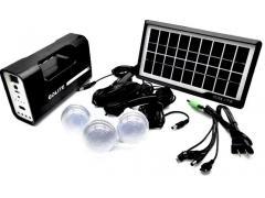 OEM Sistem Iluminare LED cu Incarcare Solara, 3 Becuri LED si Lampa Portabila GD-1