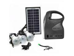 OEM Sistem Iluminare LED cu Incarcare Solara, 3 Becuri LED si Lampa Portabila GDLite-7