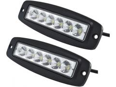 Zenteko Set 2 x Led Bar 18W (36W) 18cm montaj in bara