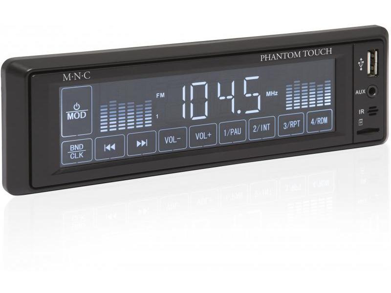 Radio auto cu player MP3 USB + SD + AUX Phantom Touch