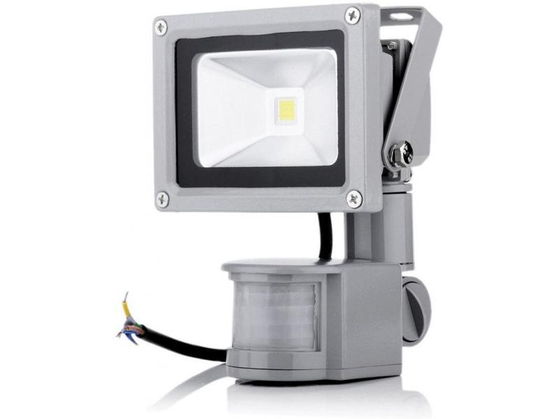 Proiector LED exterior 20W alb rece cu senzor PIR