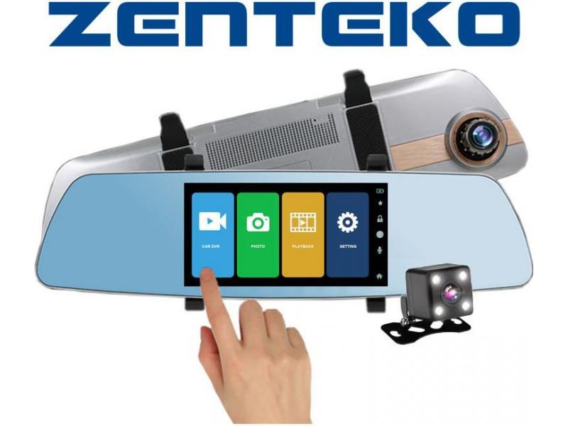 Zenteko Camera Auto Oglinda Offroad Zenteko Full HD cu touchscreen SM 502CM