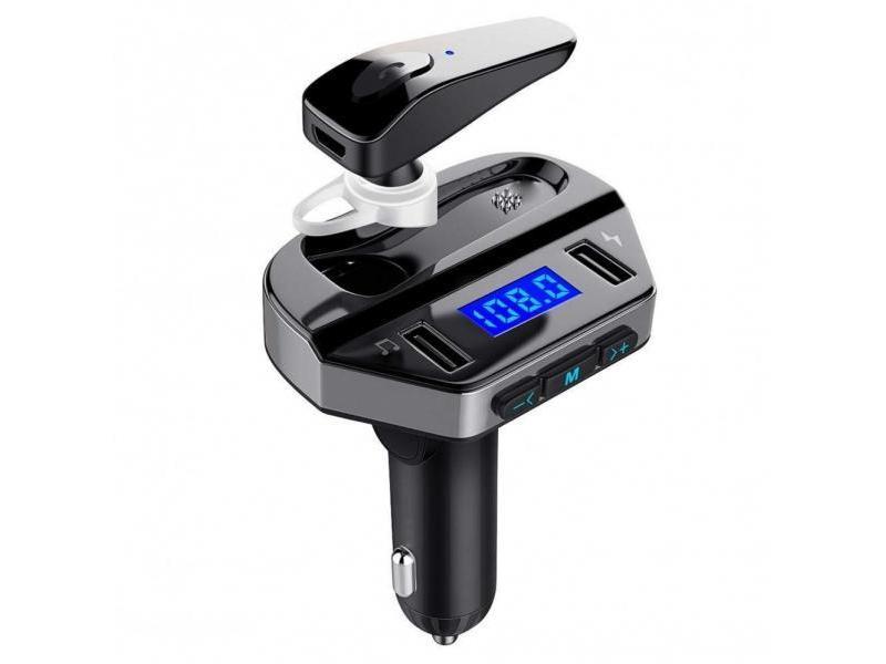 OEM Car Kit Bluetooth Dual USB cu Casca V6