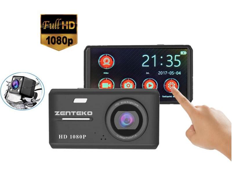 Zenteko Camera Auto Zenteko Premium Full HD SMK 108 cu camera spate si TouchScreen
