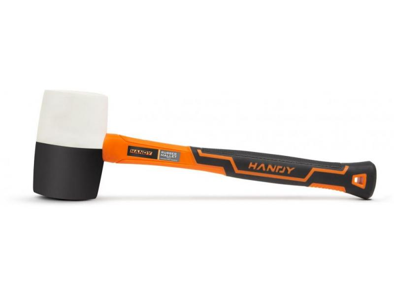 Handy Ciocan cauciuc cu maner din fibra de sticla - 907 g