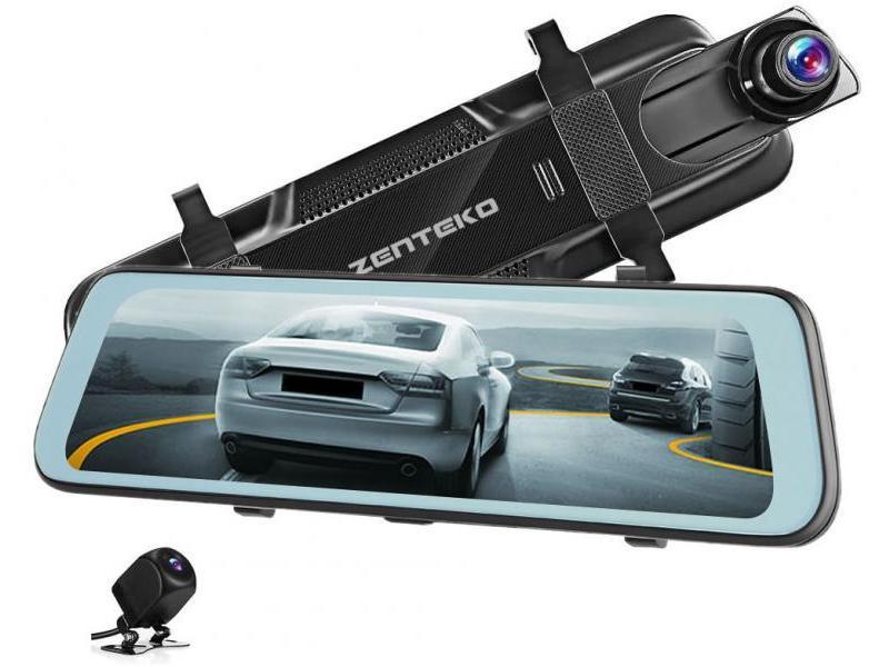 Zenteko Camera Auto Oglinda Offroad Zenteko 2K + Full HD cu touchscreen SM1037CM