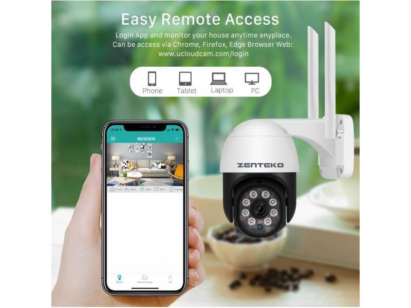 Zenteko Camera IP Wireless FullHD de Exterior ZENTEKO SM-ABQ10