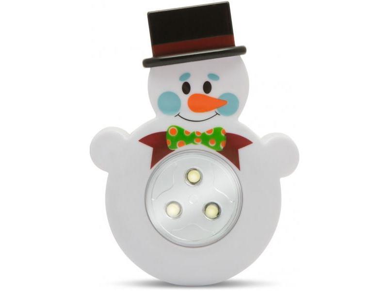 Phenom Lampă de veghe cu buton, model Om de zăpadă