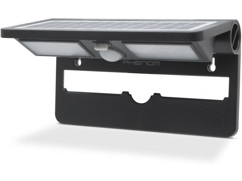 Phenom Reflector solar cu LED, cu senzor de mişcare şi de lumină - NEGRU
