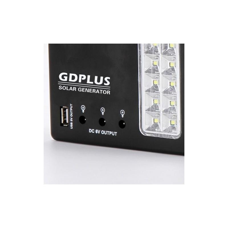 OEM Sistem Iluminare LED cu Incarcare Solara, 3 Becuri LED si Lampa Portabila GD-999