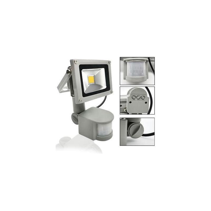 OEM Proiector LED exterior 10W alb rece cu senzor PIR