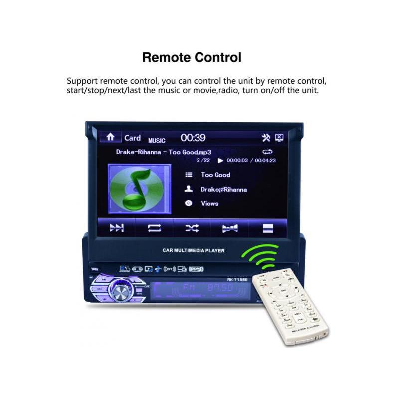 OEM Multimedia radio de masina cu bluetooth si ecran touch rabatabil RK-7158B