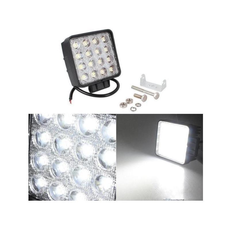 OEM Proiector LED auto 48W patrat