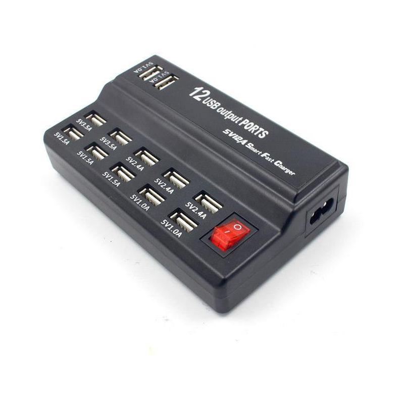 OEM Fast Charger USB cu 12 porturi si 12A