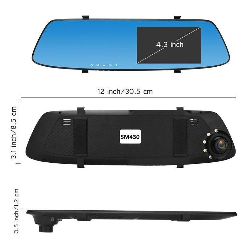 OEM Camera Auto Oglinda Full HD cu touchscreen SM430