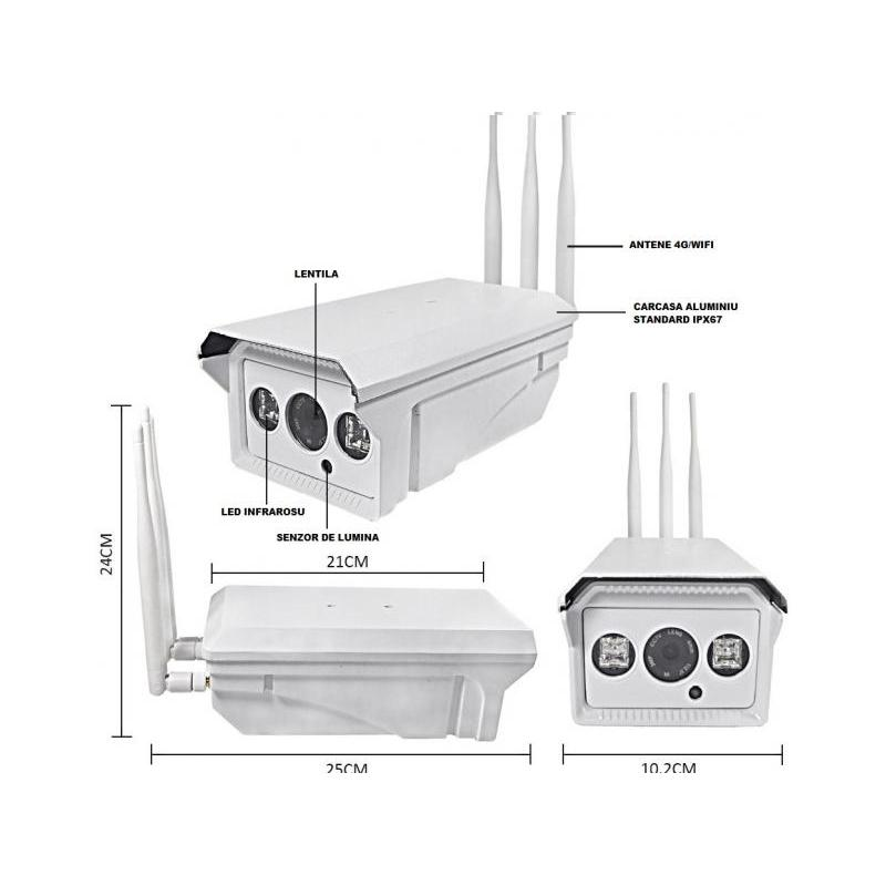 OEM Camera IP Wireless de Exterior Full HD Conectivitate 4G SM10
