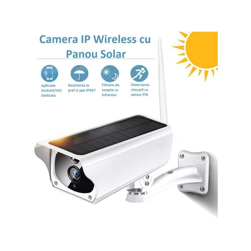 Zenteko Camera IP Wireless de Exterior Zenteko Full HD cu Panou Solar SM20