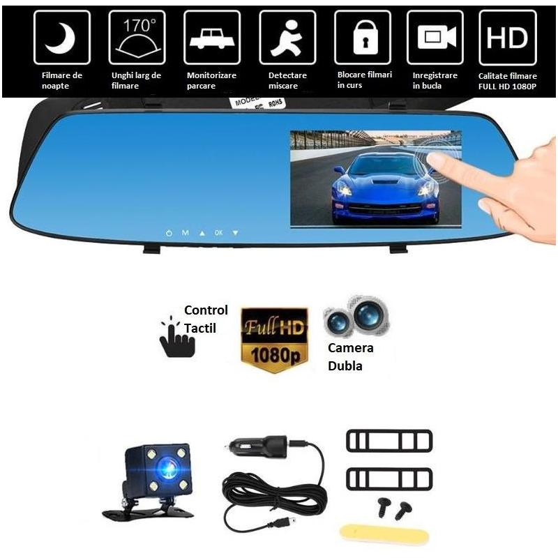 OEM Camera Auto Oglinda Offroad Full HD cu touchscreen SM430