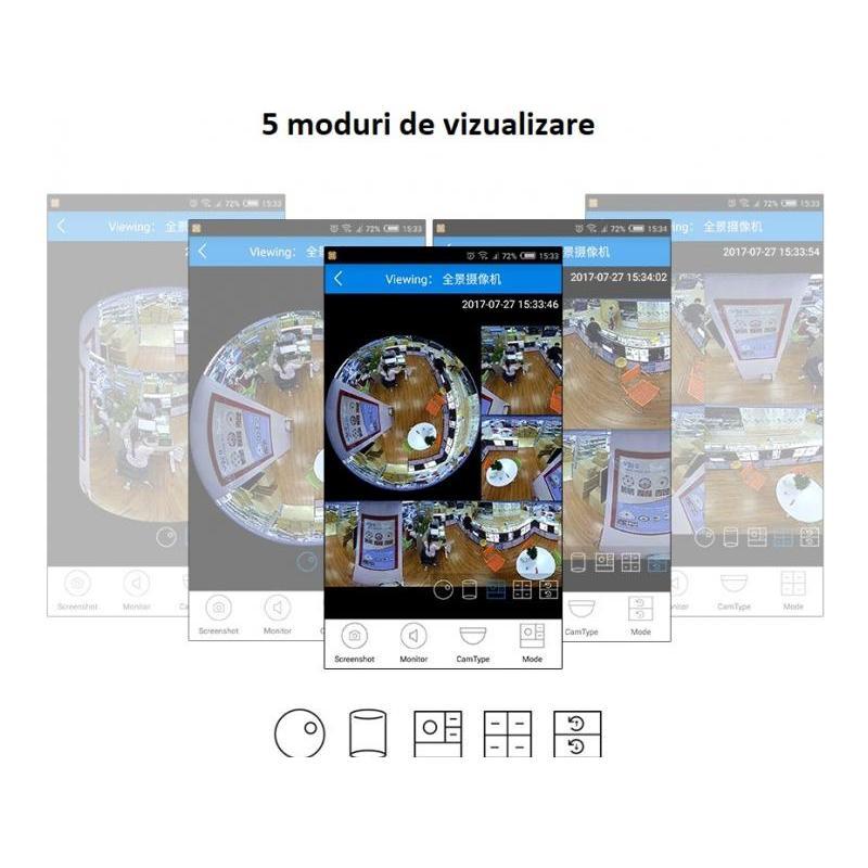 Zenteko Camera IP Wireless Zenteko cu filmare 360° SMV350N