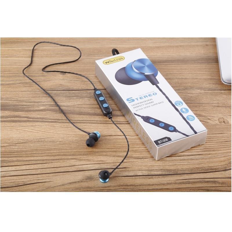 OEM Casti Bluetooth Sport Albastru BT-006