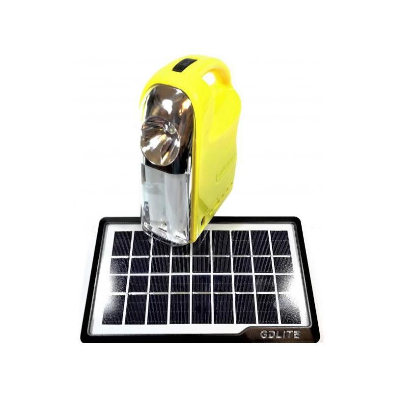 OEM Sistem Iluminare LED cu Incarcare Solara, 3 Becuri LED si Lampa Portabila GD-7 Galben