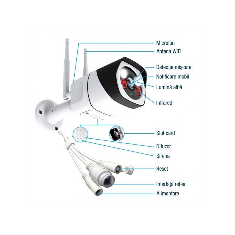 Zenteko Camera IP Wireless FullHD de Exterior Zenteko SM921