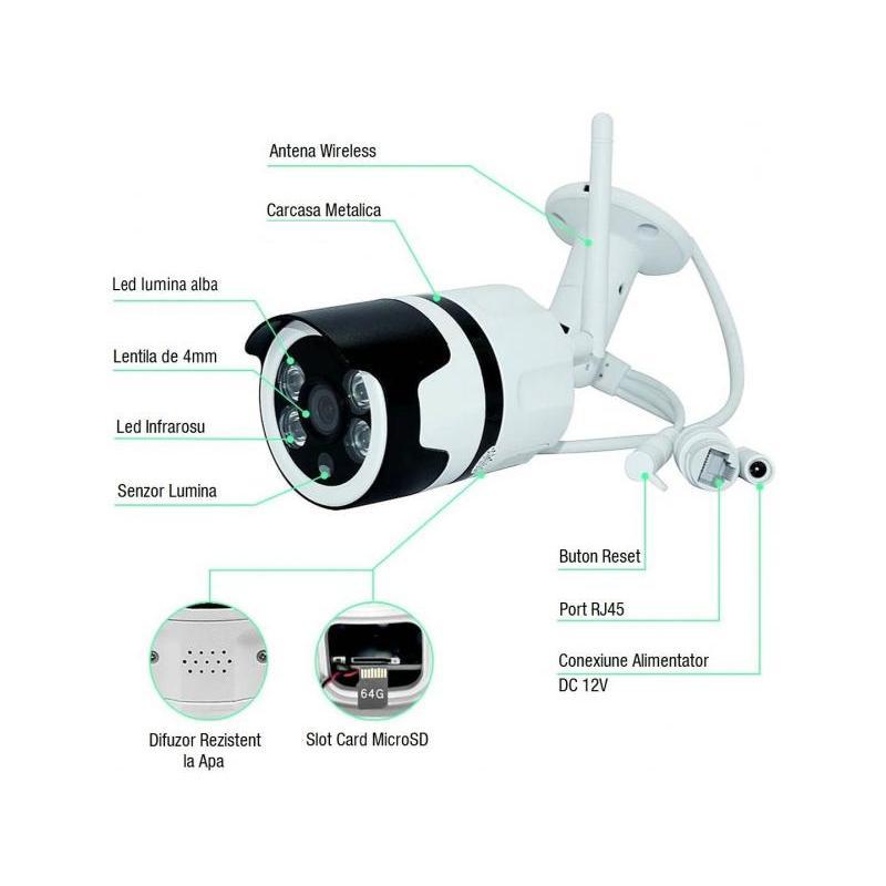 OEM Camera IP Wireless HD de Exterior Zenteko SM920