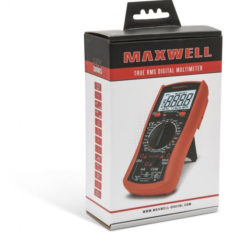 Maxwell Multimetru de uz general, cu masurare de temperatura, masurare True RMS.