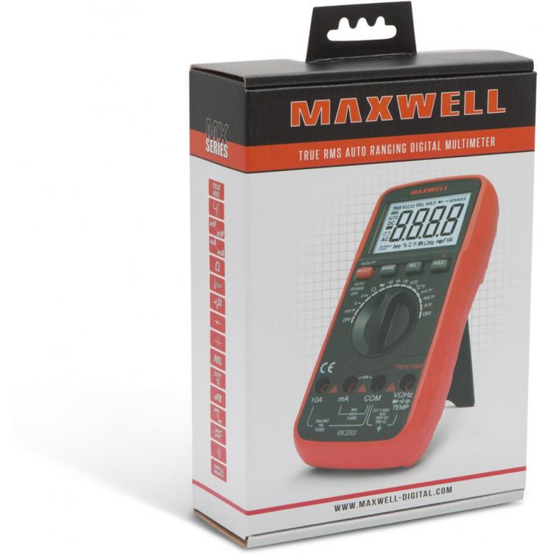 Maxwell Multimetru digital - termometru  (TRUE RMS)