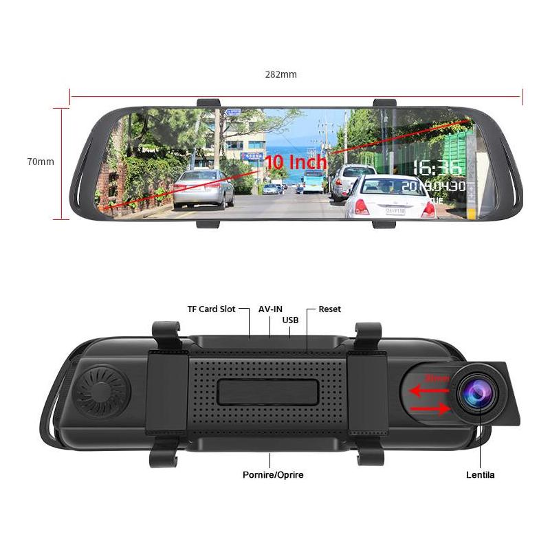 Zenteko Camera Auto Oglinda Offroad Zenteko Full HD cu touchscreen SM1041CM
