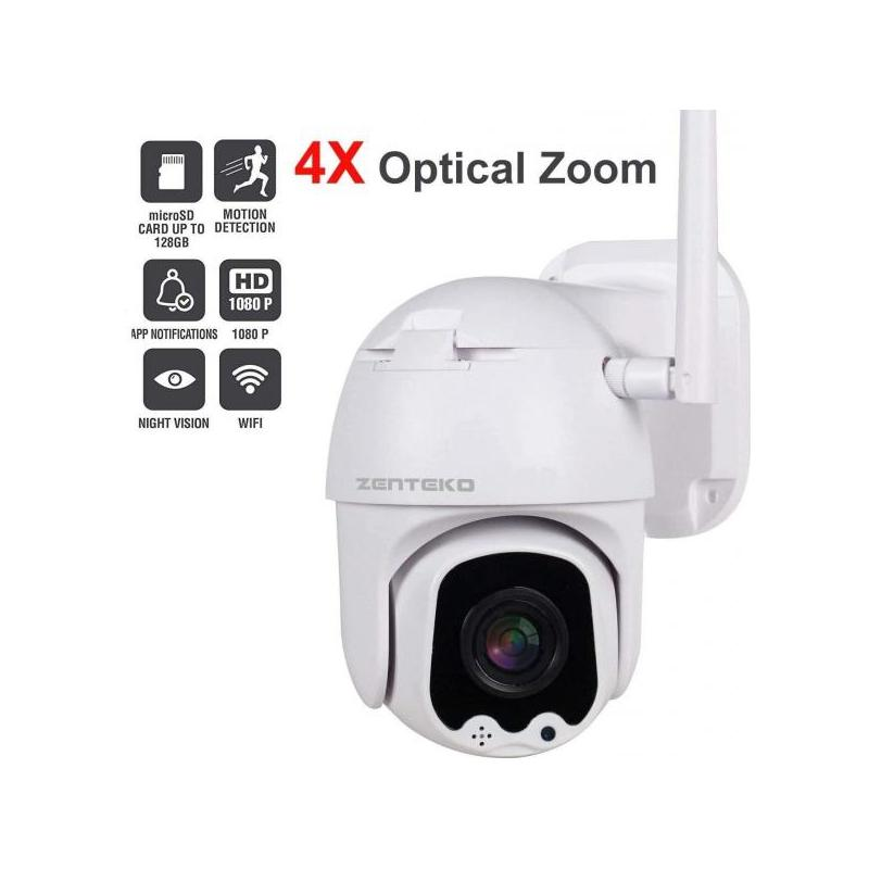 Zenteko Camera IP Wireless FullHD de Exterior Zenteko cu Zoom 4x SM-KBC9