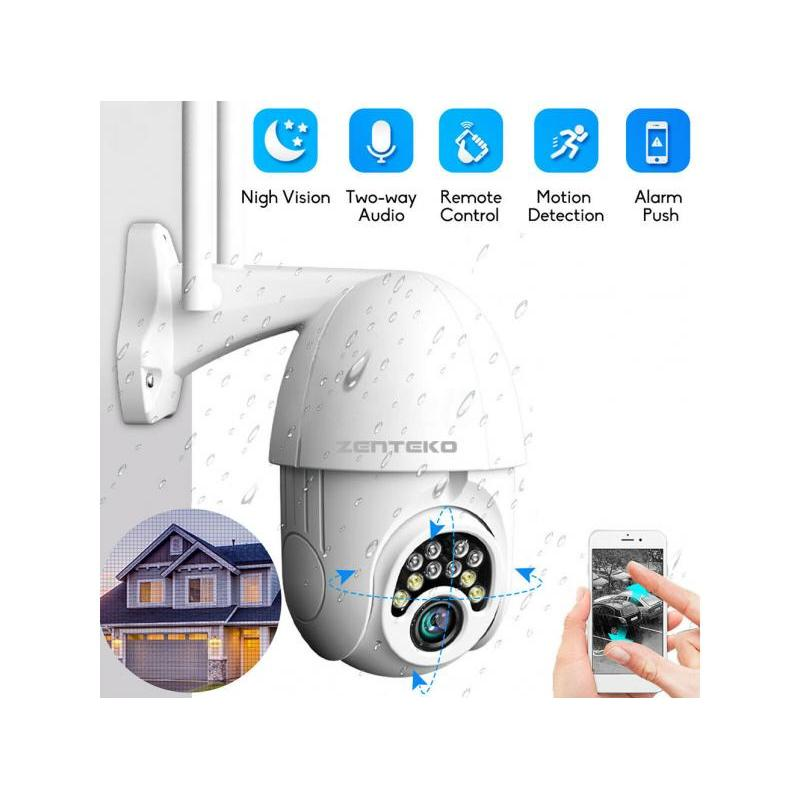Zenteko Camera IP Wireless FullHD de Exterior Zenteko SM-KBX3