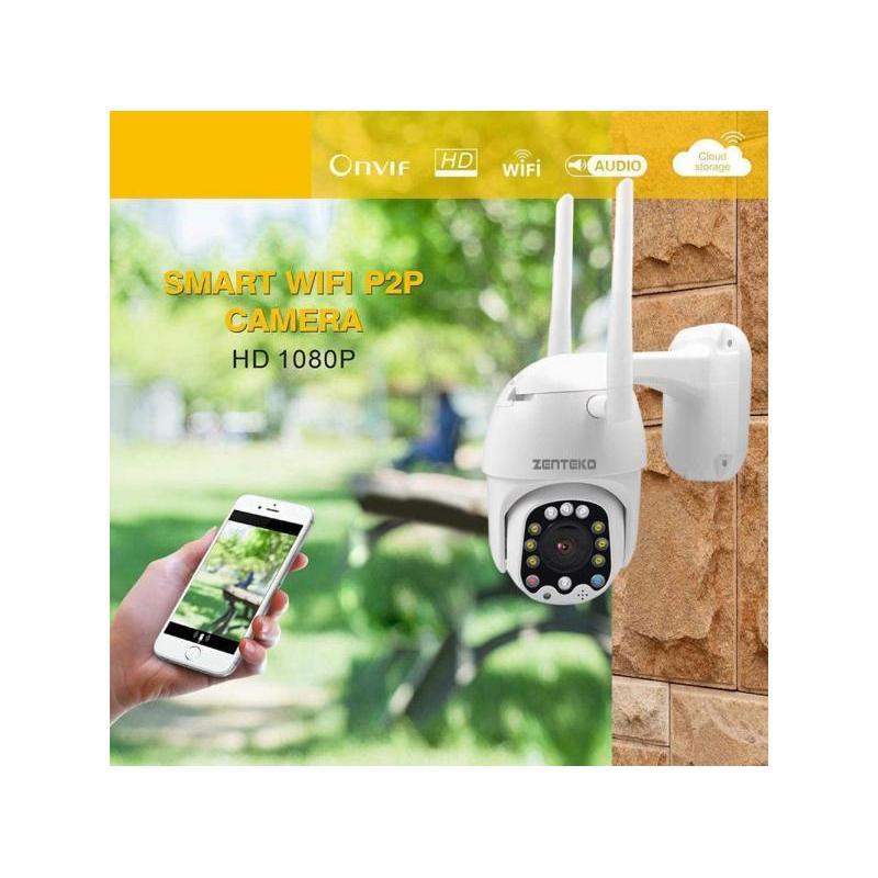 Zenteko Camera IP Wireless FullHD de Exterior ZENTEKO SM-KBA1