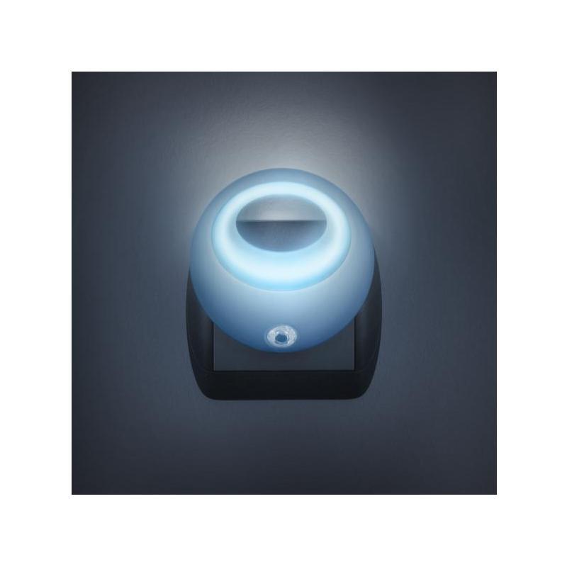 Phenom Lampa de veghe cu LED si senzor de lumina - albastra